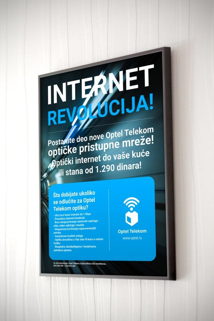 Poster Optel telekoma za optički internet